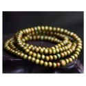 Bracelet Tibétain, Mala en perles de bois vert.