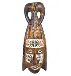 Masque africain en bois pas cher. Décoration tribale Afrique ethnique.