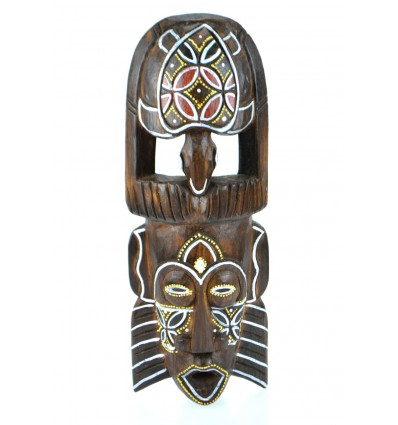 African mask wood pattern turtle. Wall decoration africa.