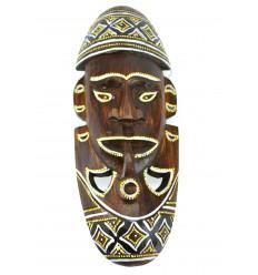 Maschera africana in legno originale. Decorazione della parete africa.
