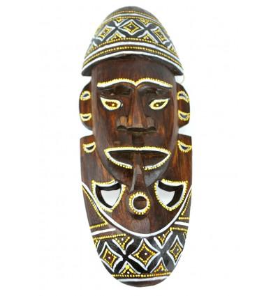 African mask original wood. Wall decoration africa.