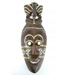 Maschera africana di legno a buon mercato. Decorazione della parete esotici africa.