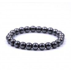 Bracelet in Hematite. Strengthens and purifies