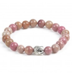 Bracelet rhodonite anti-stress-pearl buddha. lucky reviews.