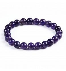 Bracciale Ametista naturale + perla di Buddha. Spedizione gratuita.