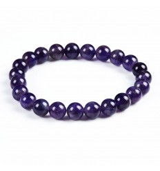 Bracelet Lithotherapie Amethyst natural - Anti-stress and soothing