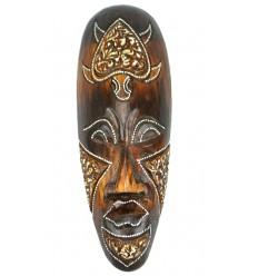 Masque en bois 30cm - motif tortue - décoration ethnique chic style africain.