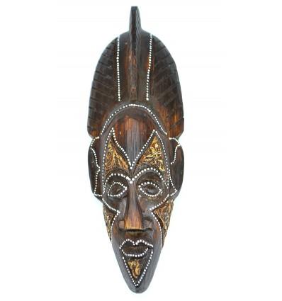 Maschera di legno 30cm - cresta-africano, etnico, decorazione chic.