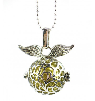 "Necklace fancy Bola pregnancy ""Angel Wings"" metallic silver"