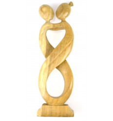 Great statue couple Love Infinity H50cm solid wood gross