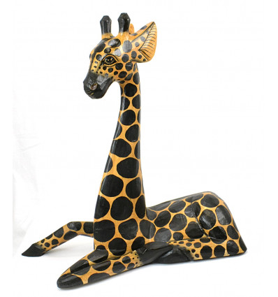 Grande statue girafe d coration ethnique savane animaux - Grande statue decoration interieur ...