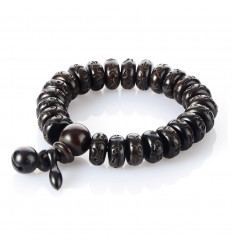 Bracelet traditional Buddha beads wood