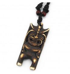 Collier mixte homme / femme avec pendentif Tiki - style polynésien