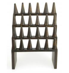 Grande porta-anelli / Display-ring (24 coni) in legno tinta marrone cioccolato
