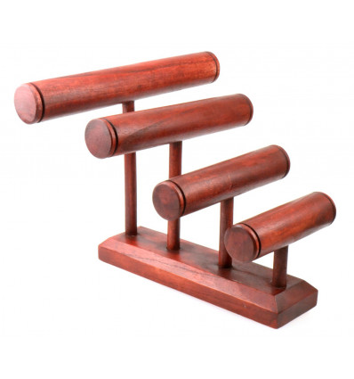 Great display stand for bracelets/watches 4 rods, solid wood red color