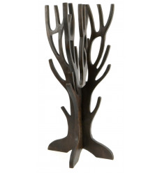 Jewelry tree for necklaces, bracelets,watches - solid wood stained in chocolate brown