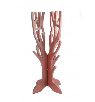 Gioielli albero per collane, bracciali,orologi, in legno massello di colore rosso