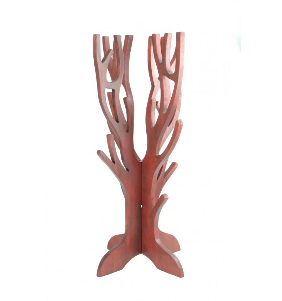 arbre a bijoux en bois massif rouge pour collier bracelets et montres. Black Bedroom Furniture Sets. Home Design Ideas