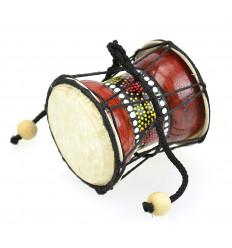 Mini Djembé Tambourin en bois et peau - Instrument de musique et objet déco