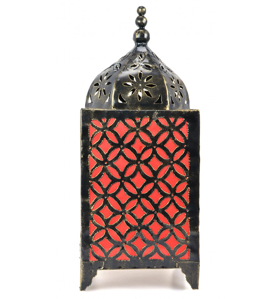 Lampe de salon marocaine en fer forg artisanat marocain for Lampe de chevet fer forge