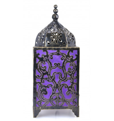Lamp for ask craft, wrought-iron, decorated with baroque violet.