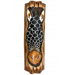 Wall decoration-Giraffe wooden theme african savannah ethnic.