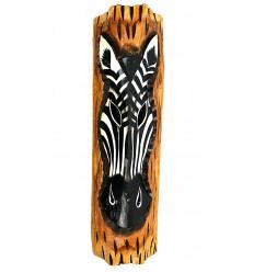 Decorazione della parete di legno della zebra tema savana africana etnica.