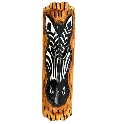 Wall decor zebra wood theme african savannah ethnic.