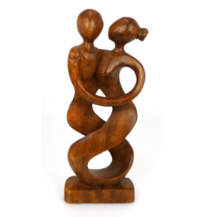 Statua coppia ballerina in un bosco. Idea regalo di anniversario di matrimonio.