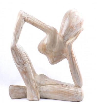"""Hand Carved Wood Wall Decor Coloré Cobra visage Tiki Mask 8/"""" pour Bonne énergie"""