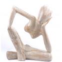 acheter statue en bois style penseur de rodin pas cher, artisanat.