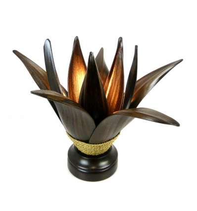 Living room lamp ethnic coconut leaves natural handcrafted .
