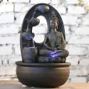 Grande fontaine d'intérieur Zen Bouddha harmonie éclairage led.