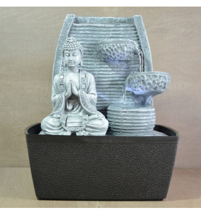 Indoor fountain Buddha Zen lit with a wall of water, not expensive.