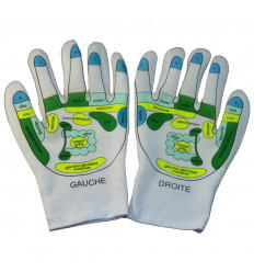 Gloves moisturizing reflexology massage spa, gift idea of well-being.