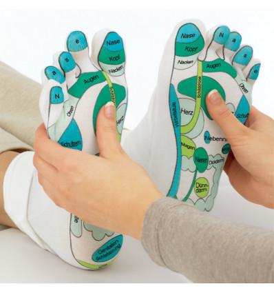 Chaussettes hydratation réflexologie massage, idée cadeau bien-être.