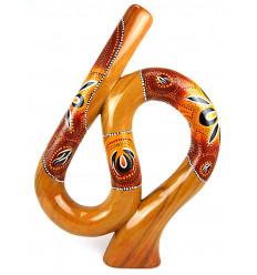 Didgeridoo di yoga di forma a spirale, S, pittura aborigena. Acquistare a buon mercato.