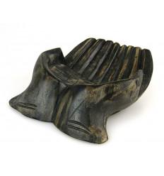 """Intaglio a Mano in legno. Vuoto-tasca / schede di visualizzazione. Finitura nero """"vintage"""""""