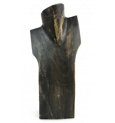 Display collana busto in legno originale artigiano. Grossista.