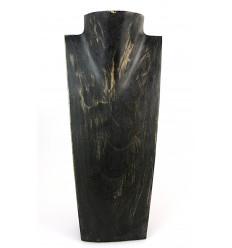 "Display collana busto in legno H35cm finitura nero ""vintage"""