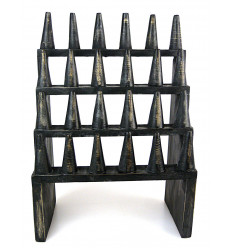 "Great display stand for rings (24 cones) in wood finishing ""black vintage"""