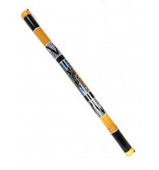 Bâton de Pluie XL en bambou, Rainstick 100cm décor peint à la main.