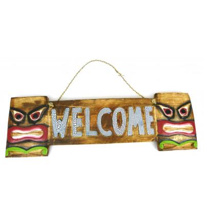 Plate door-wood-welcome-style tiki room teen.