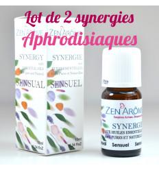 Lot de 2 synergies aux huiles essentielles aphrodisiaques