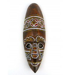 Mask decor batik wooden 30cm. Deco mural-style ethnic' chic