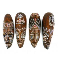 Masque décor batik en bois 30cm. Déco murale style ethnic' chic