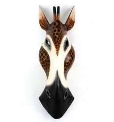 Maschera Giraffa in legno H50cm deco Africa