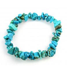 Bracelet baroque en Howlite turquoise - pierre stabilisante