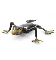 Statua rana in bronzo. Curio collezione rara. Acquisto.
