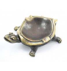 Ashtray turtle of earth bronze retro style vintage